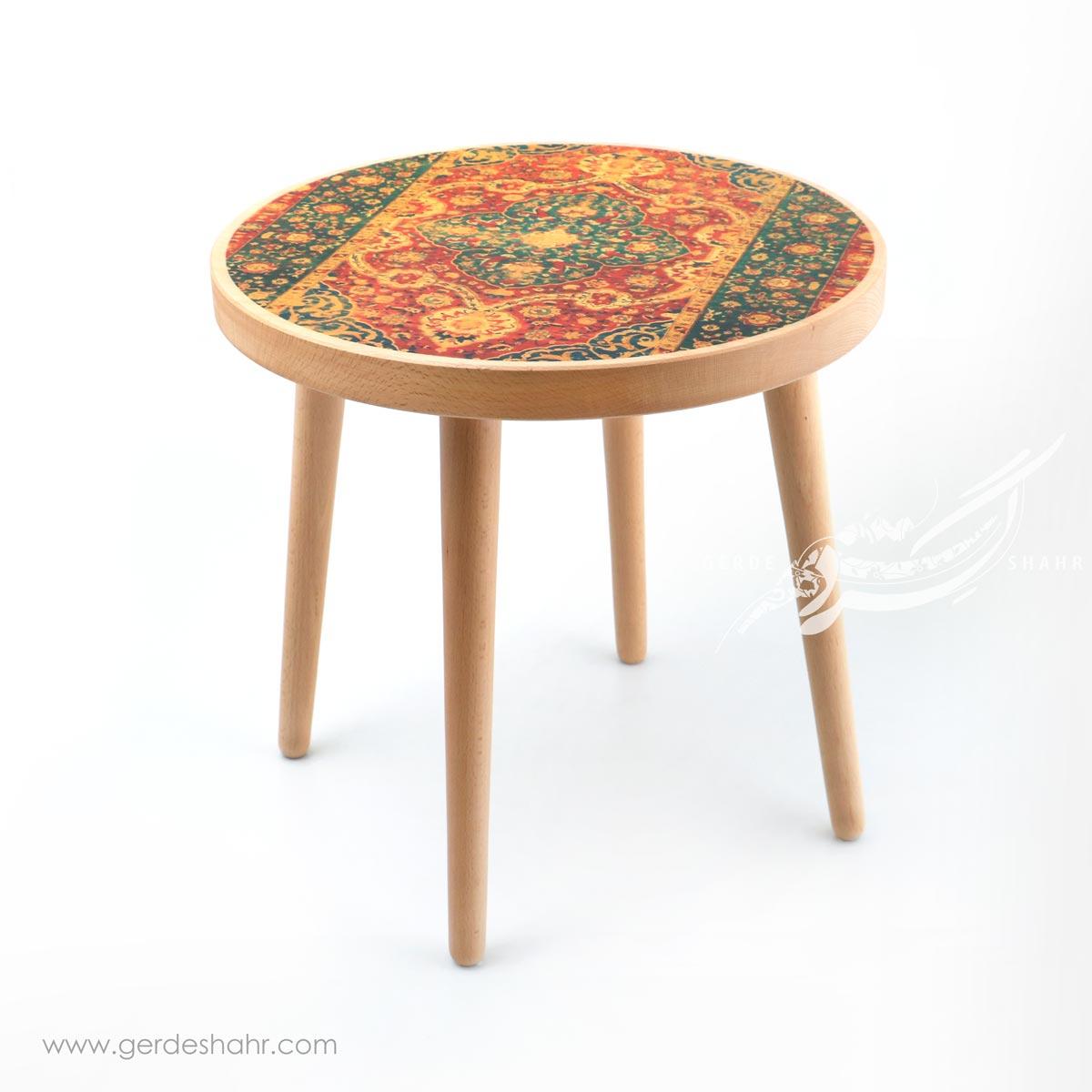 میز کوچک رویای بهشت کاشان سبز کارمان محصولات
