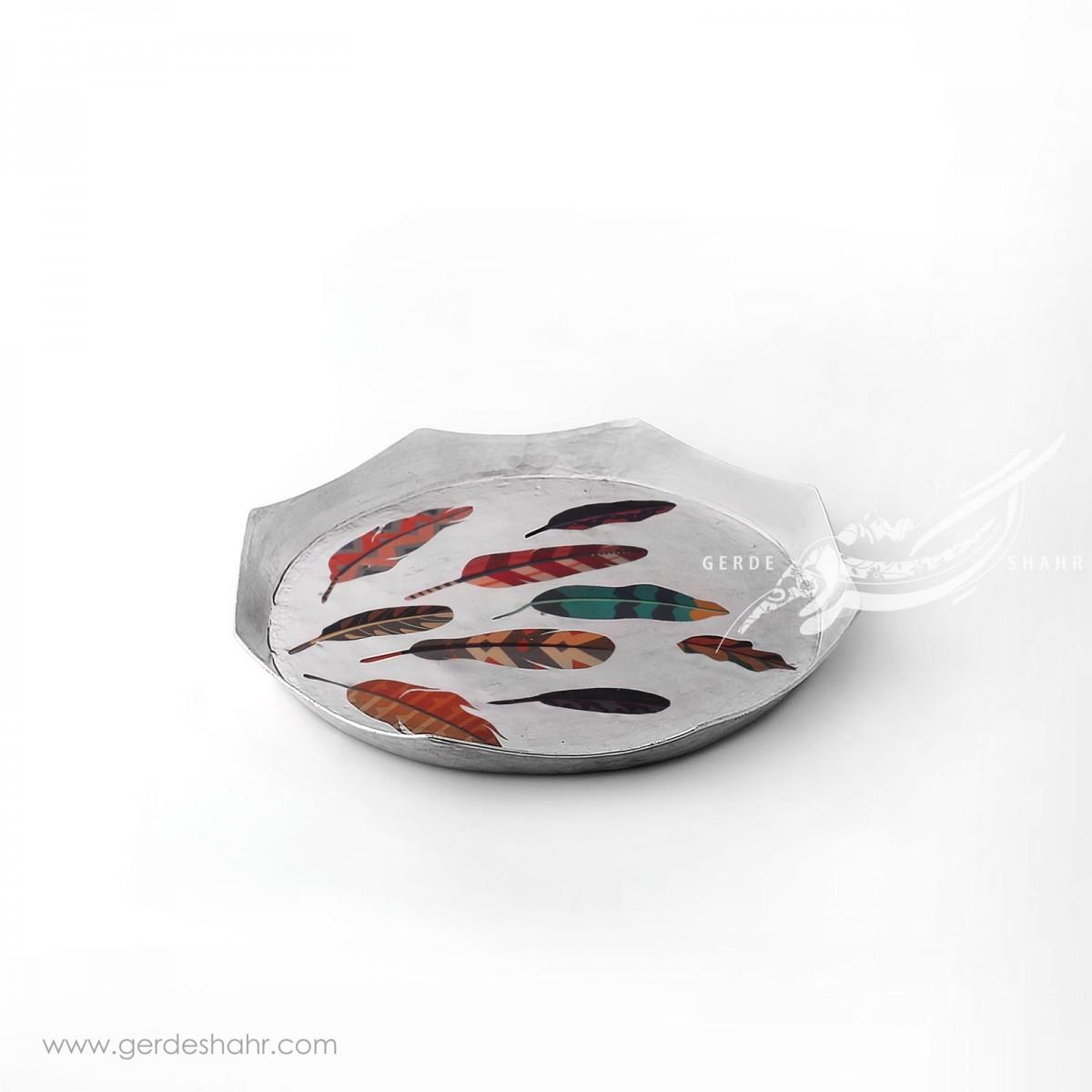 سینی مسی هشت ضلعی  پاییز خاکستری محصولات