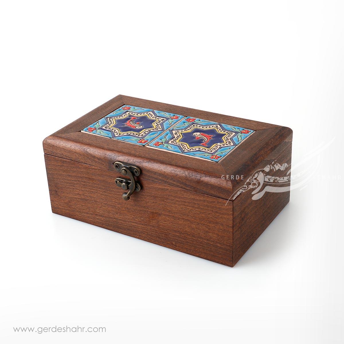 جعبه چوبی کاشی طرح 5 کیمیاگر محصولات