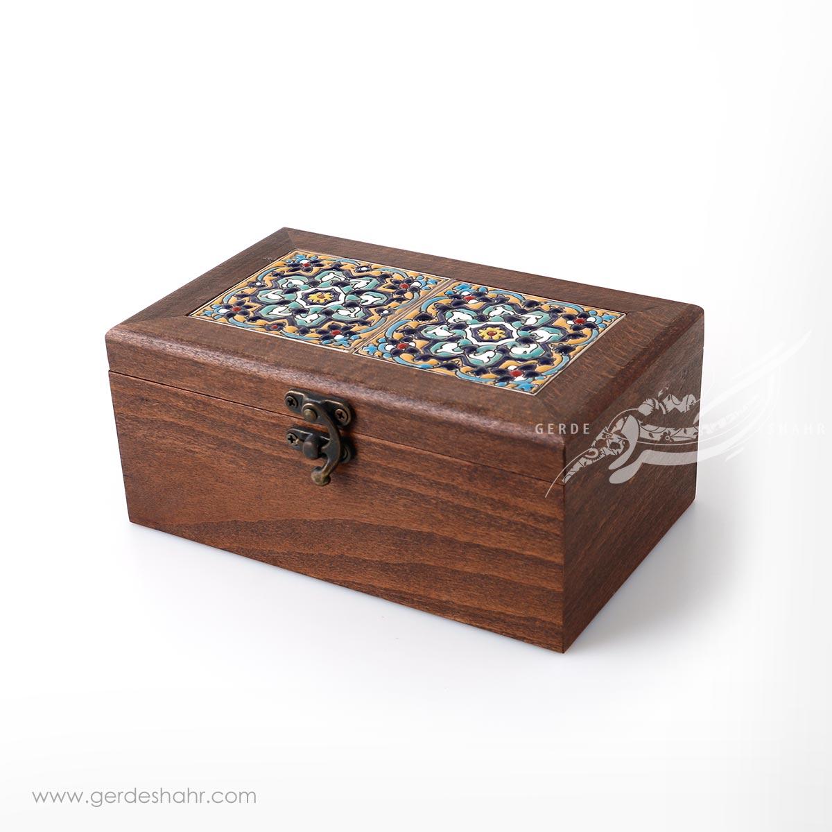جعبه چوبی کاشی طرح 6 کیمیاگر محصولات