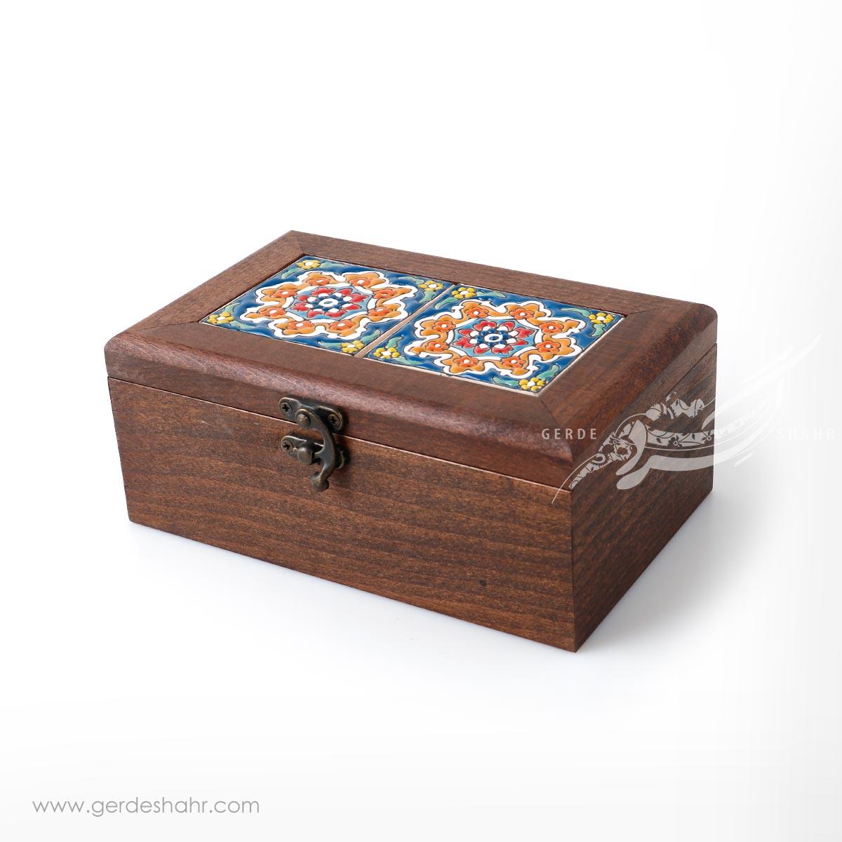 جعبه چوبی کاشی طرح 7 کیمیاگر محصولات