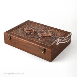 جعبه چوبی قلمزنی چوگان کیمیاگر محصولات