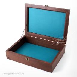 جعبه چوبی مستطیل بزرگ قلمزنی چوگان کیمیاگر