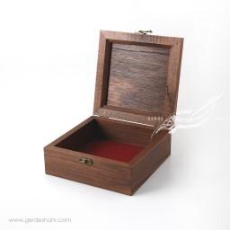 جعبه چوبی مربع قلمزنی گل و مرغ محصولات