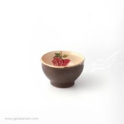 کاسه گود کوچک کرم با گل صورتی سایز ۱۰ ماه فروز محصولات