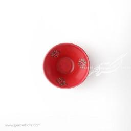کاسه کوچک قرمزگلدار سایز 10 ماه فروز محصولات
