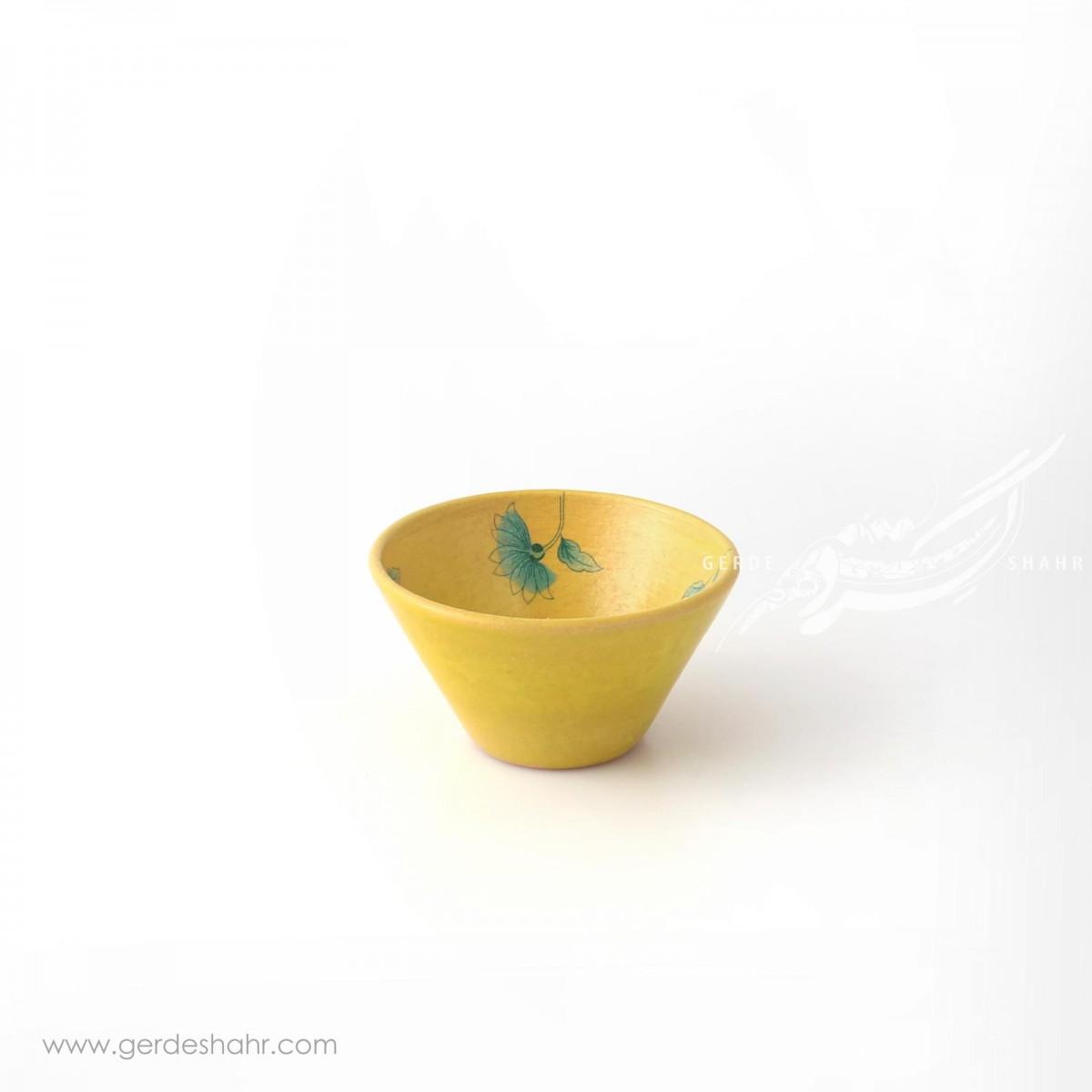 کاسه گود زرد با گل آبی سایز ۹ ماه فروز محصولات