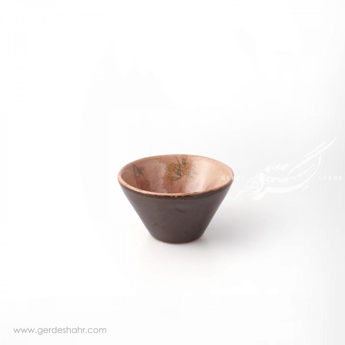 کاسه گود قهوه ای روشن گلدار سایز ۹ ماه فروز محصولات