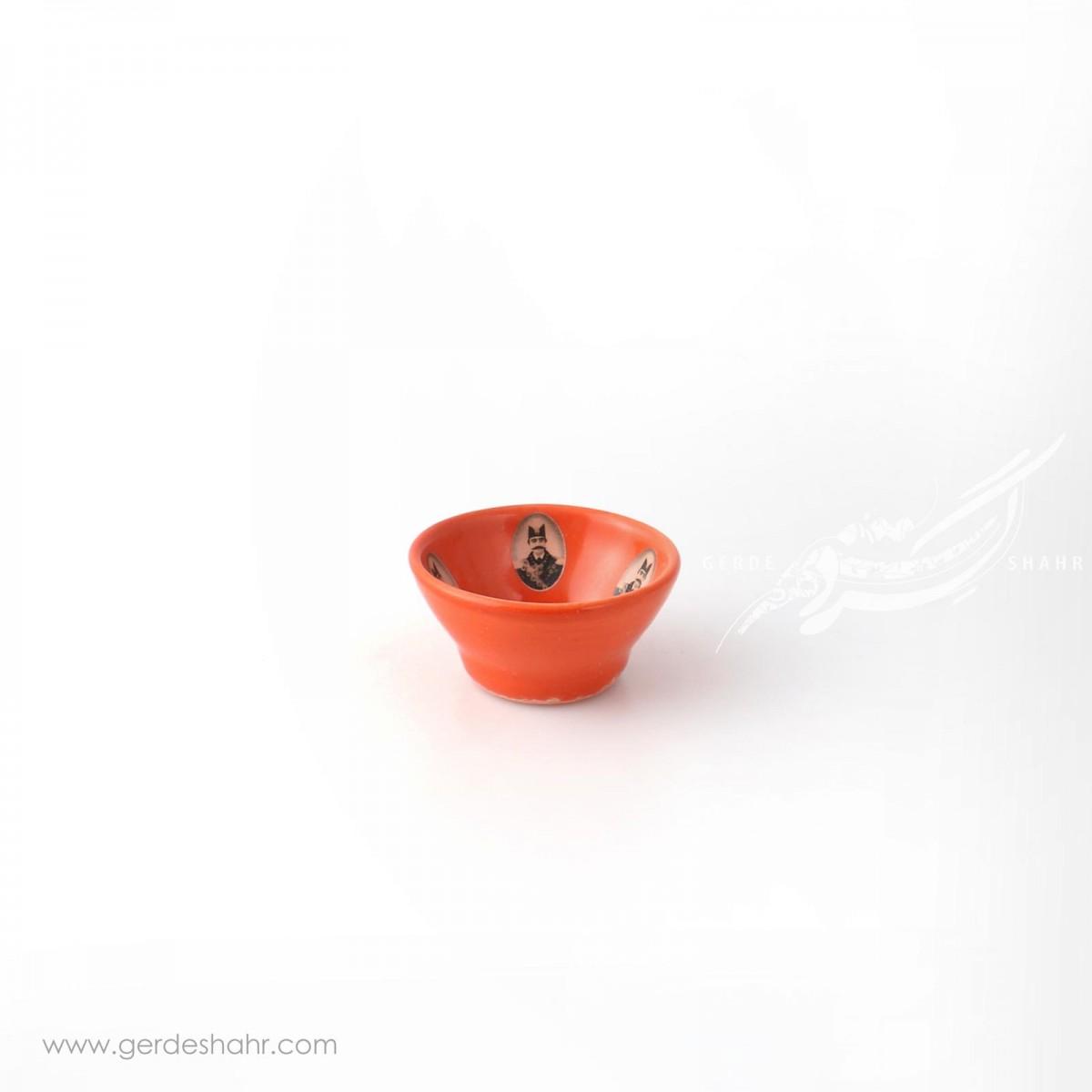کاسه خیلی کوچک نارنجی قاجار سایز 7 ماه فروز محصولات