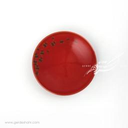 بشقاب پیش دستی  قرمز گل دار ماه فروزمحصولات