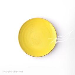 بشقاب پیش دستی زرد ماه فروز محصولات