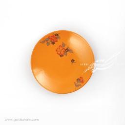 بشقاب پیش دستی نارنجی گلدار ماه فروزمحصولات