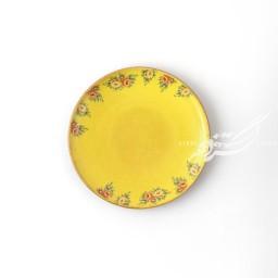 ست ۶ عددی بشقاب پیش دستی زرد گلدار ماه فروز محصولات