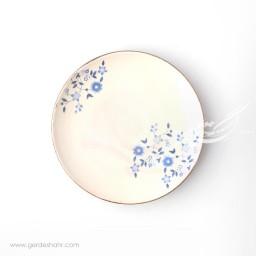 بشقاب میوه خوری کرم گل آبی ماه فروز محصولات
