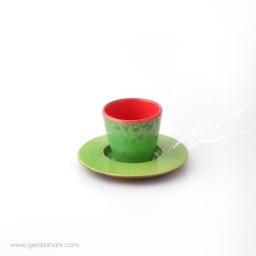 فنجان نعلبکی سبز ماه فروز محصولات