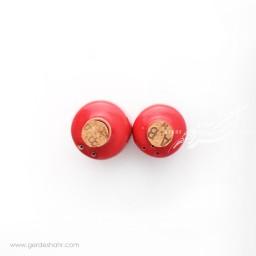 نمکدان و فلفل پاش قرمز قاجار ماه فروز محصولات