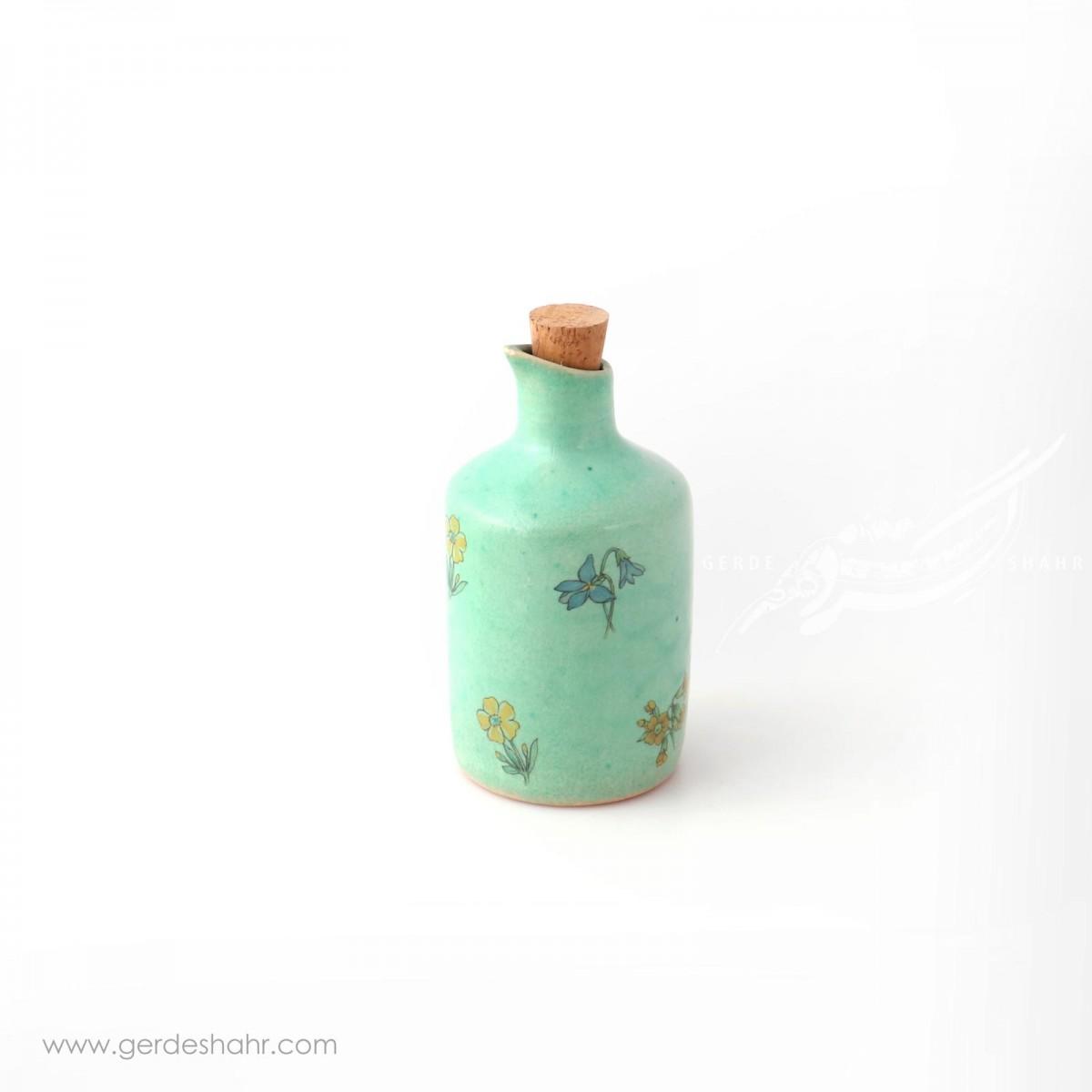 سس خوری سبز آبی گلدار ماه فروز ظروف