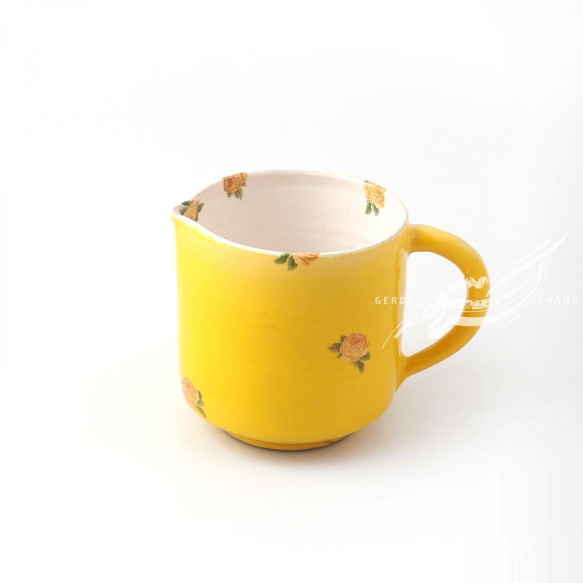 پارچ زرد گلدار ماه فروز محصولات
