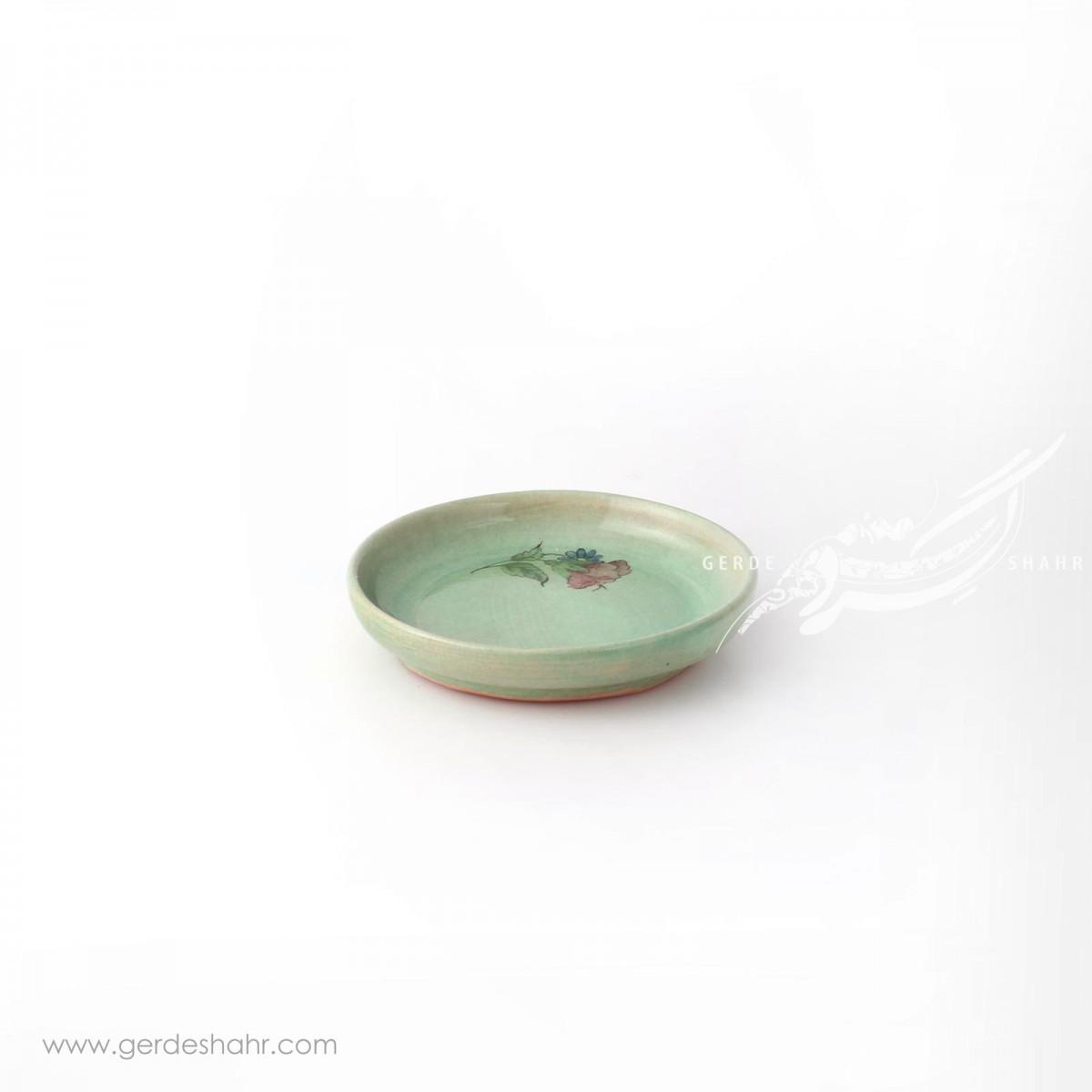 ظرف  کوچک سبز آبی تک گل ماه فروز محصولات