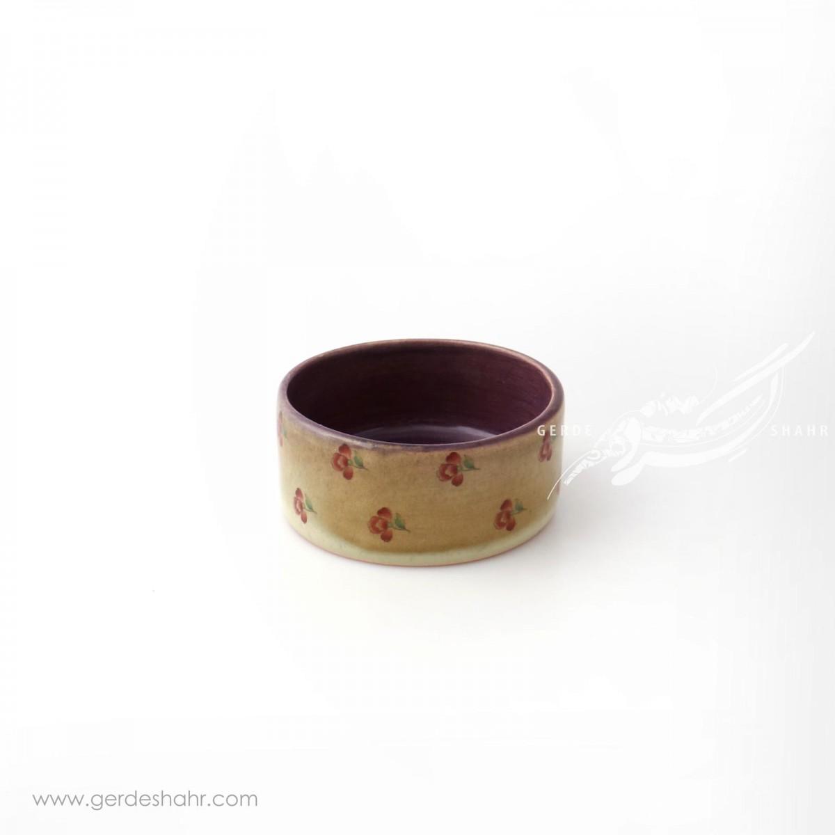 ظرف استوانه ای خیلی کوتاه گلدار ماه فروز محصولات