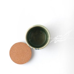 ظرف استوانه ای گلدار سبز آبی دربدار ماه فروز محصولات