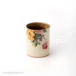 گلدان کرم گلدار ماه فروز محصولات