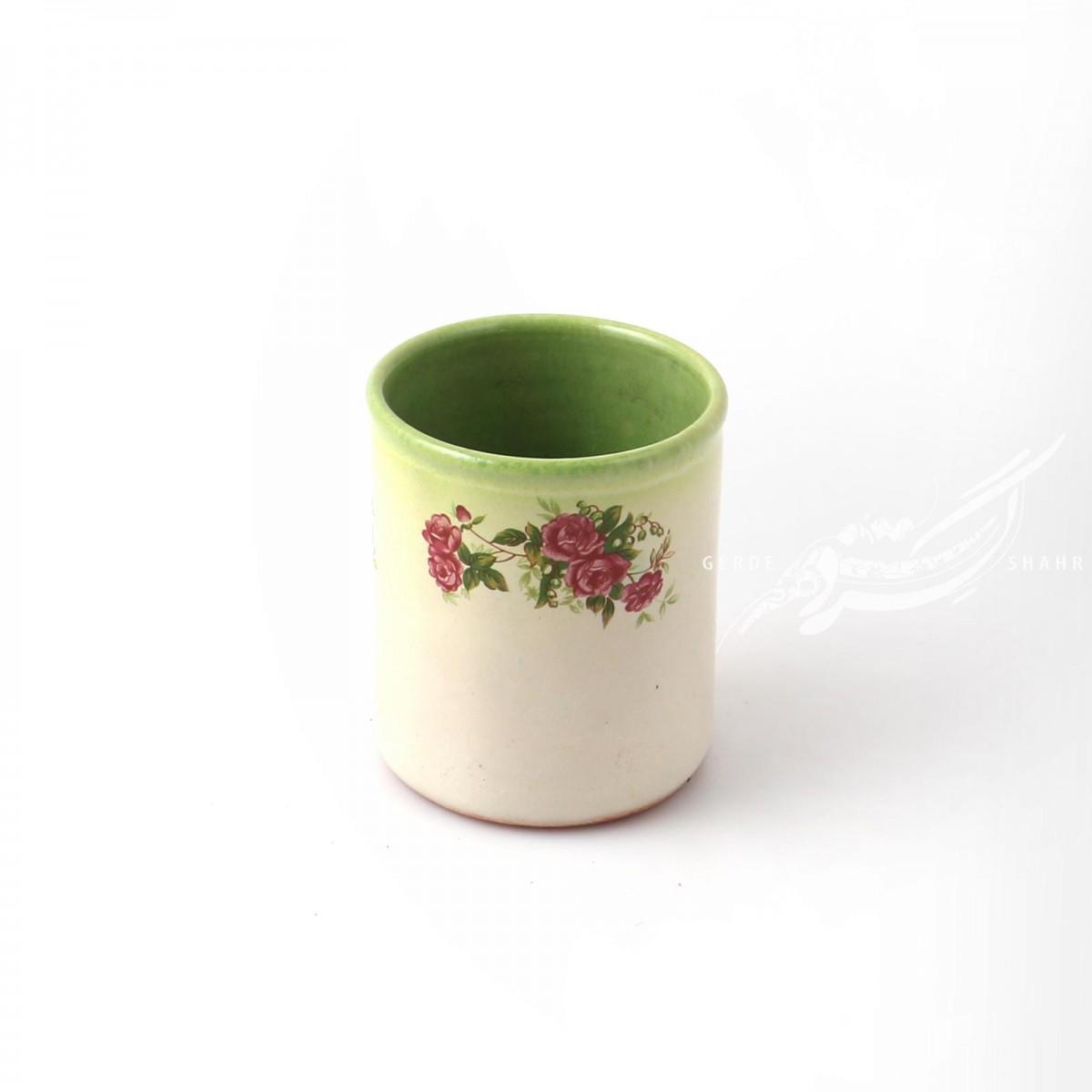 گلدان کرم سبز گلدار ماه فروز محصولات