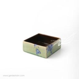 جعبه بدون درب سبز گل آبی ماه فروز اکسسوری