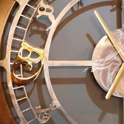 ساعت دیواری دایره کالیگرافی طرح ۲ نماد محصولات