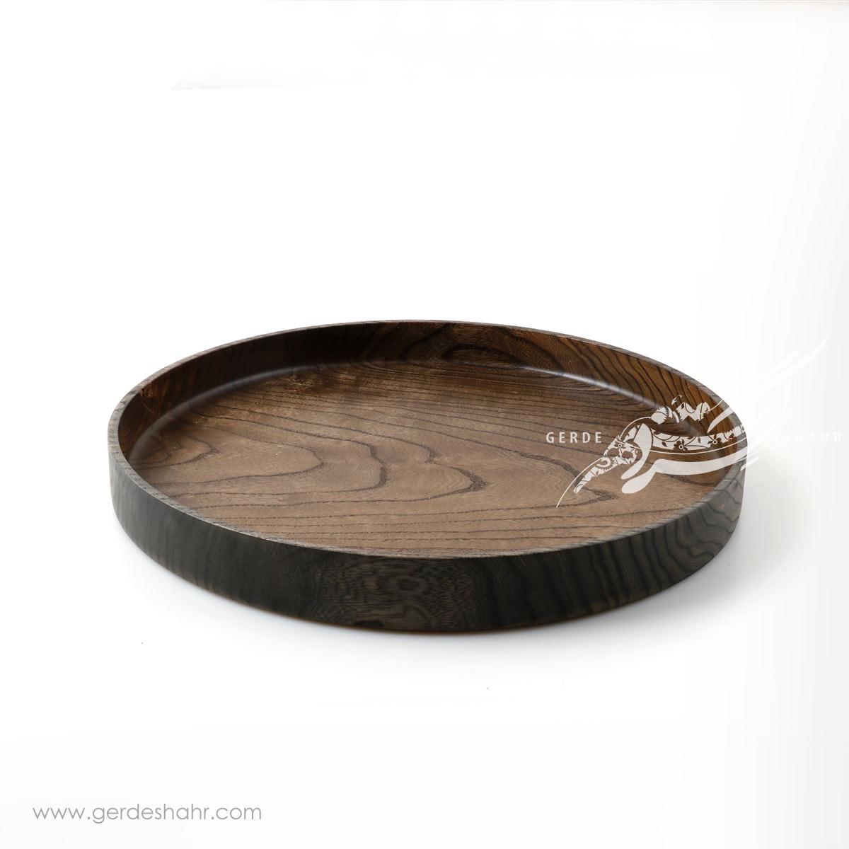 سینی چوبی بزرگ تیره ناروند