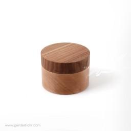ظرف استوانه ای درب دار چوبی متوسط ناروند