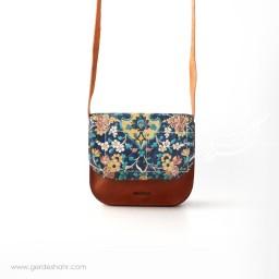 کیف گلستان نیلی چرم نیکو گنجه رخت
