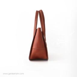 کیف دوشی گلستان نیلی چرم نیکو گنجه رخت