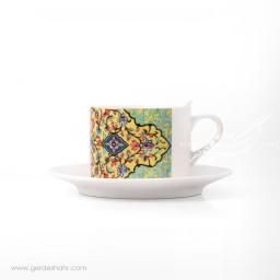 فنجان نعلبکی طرح کاشی 3 پیکتومن محصولات