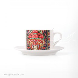فنجان نعلبکی طرح کاشی 4 پیکتومن محصولات