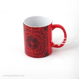 ماگ حرارتی قرمز نقش کاشی 2 پیکتومن محصولات
