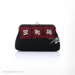 کیف دستی مشکی نمد گلستان راژانه گنجه رخت