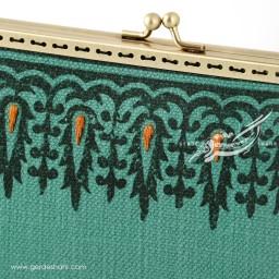 کیف دستی فیروزه قلمکار راژانه گنجه رخت