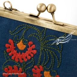 کیف بنددار گل میخک راژانه گنجه رخت