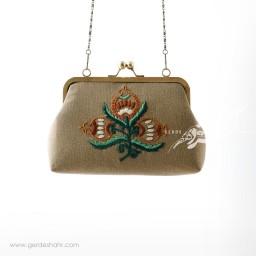 کیف بنددار نسکافه ای شاخه انار راژانه گنجه رخت