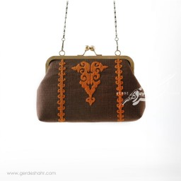 کیف بنددار قهوه ای کوبه راژانه گنجه رخت