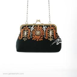 کیف بنددار مشکی مهرانا راژانه گنجه رخت