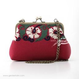 کیف بنددار قرمز میخک راژانه گنجه رخت