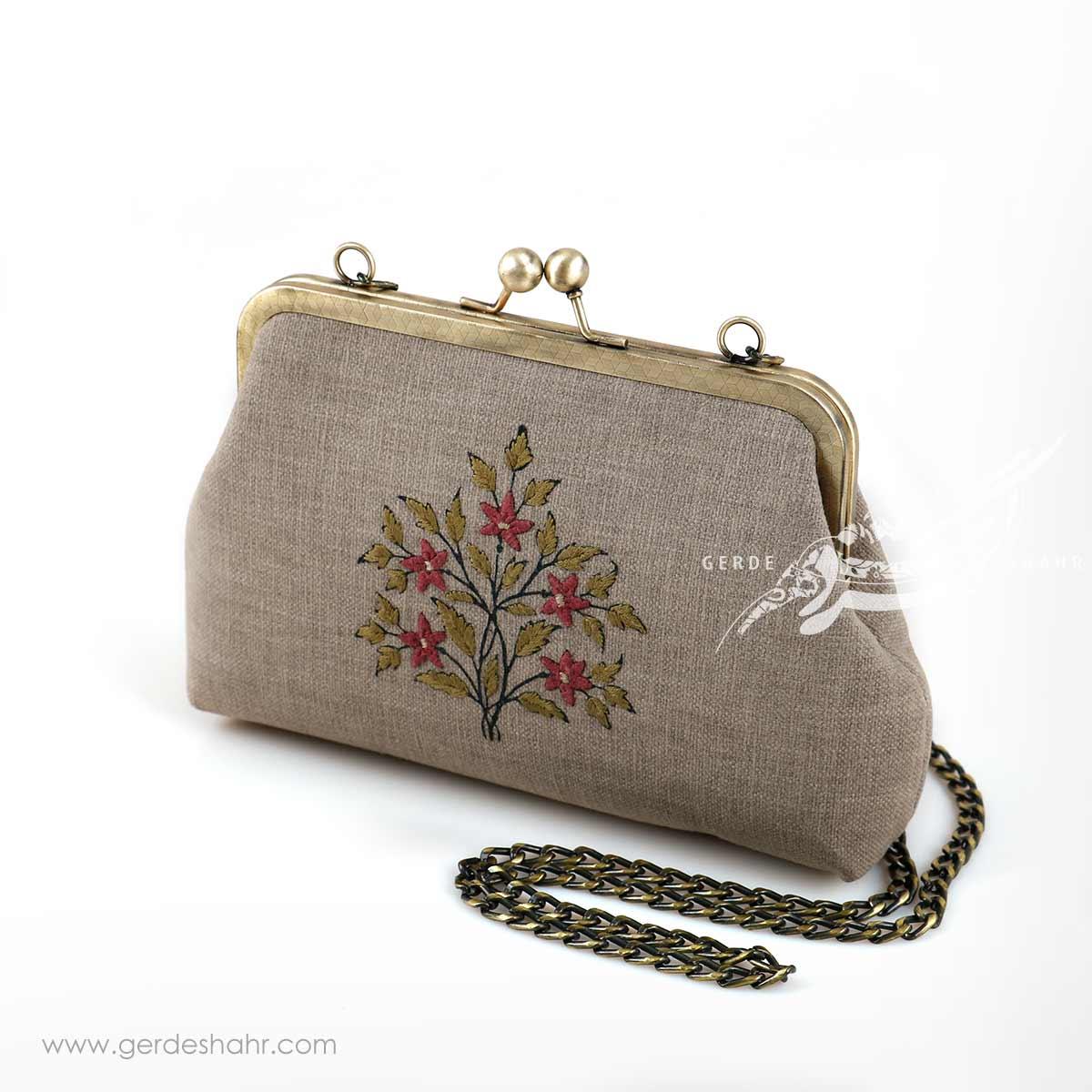 کیف بنددار خاکستری شیوا راژانه گنجه رخت