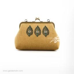 کیف بنددار خردلی سه بته راژانه گنجه رخت