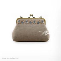کیف بنددار خاکستری می گل راژانه گنجه رخت