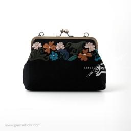 کیف بنددار مشکی رنگین راژانه گنجه رخت