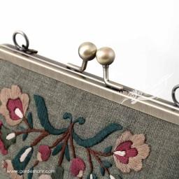 کیف بنددار سبز خوشه گل راژانه گنجه رخت