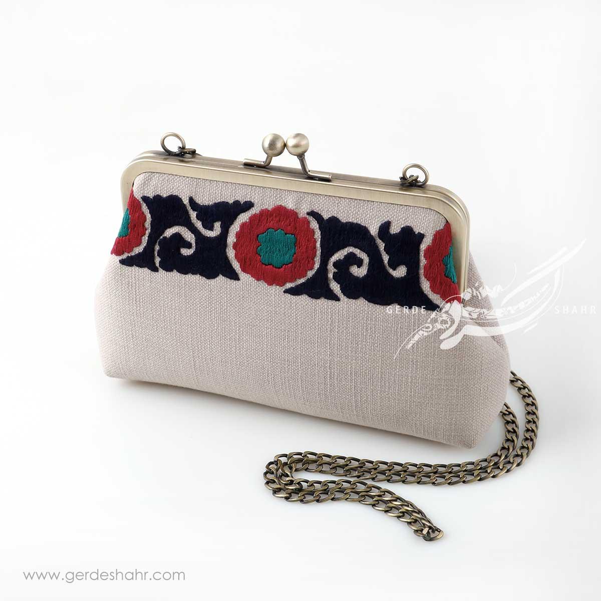کیف بنددار کرم بخارا راژانه گنجه رخت