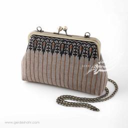 کیف بنددار خاکستری قلمکار راژانه گنجه رخت